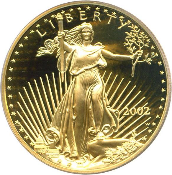 sample image for 2002-W Gold Eagle $50  PR DCAM