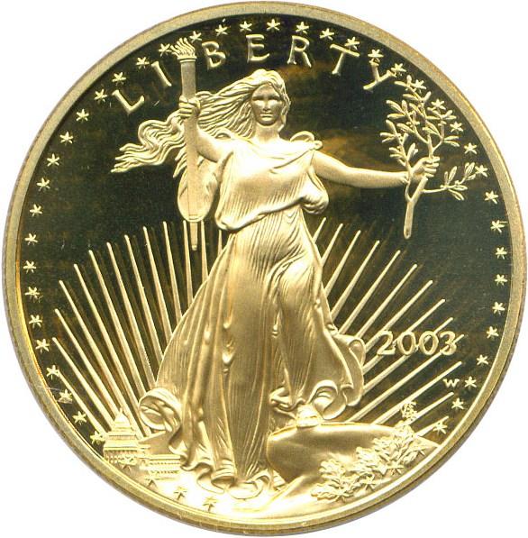 sample image for 2003-W Gold Eagle $50  PR DCAM