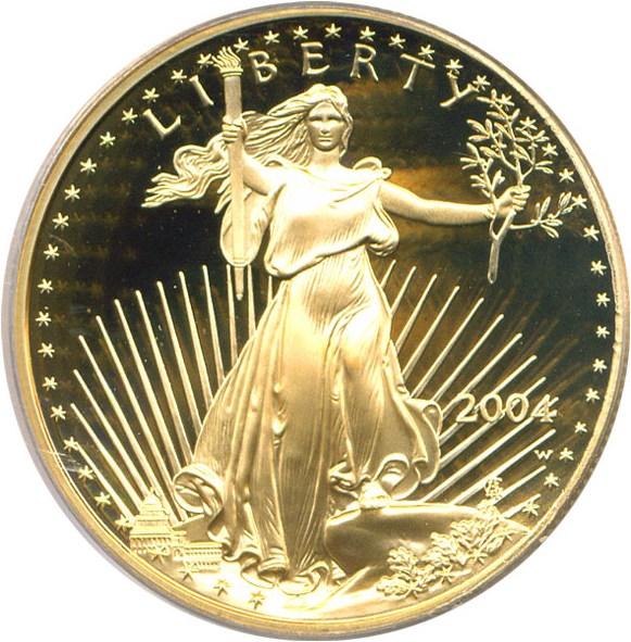sample image for 2004-W Gold Eagle $50  PR DCAM