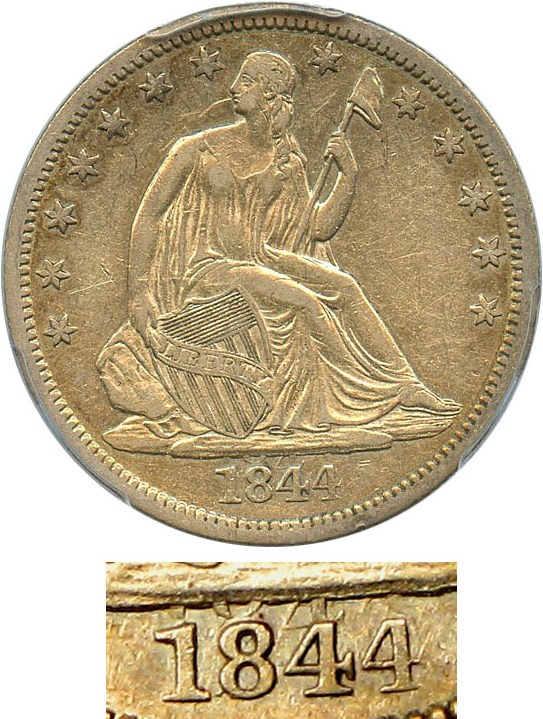 sample image for 1844-O 50c MS Double Date