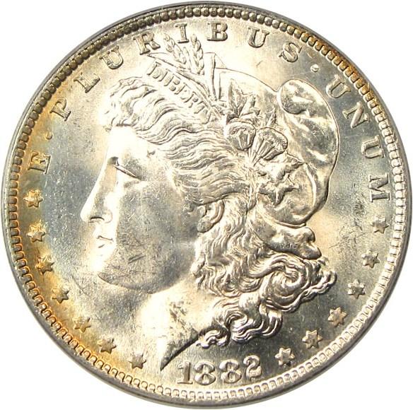 sample image for 1882-O $1  MS VAM-4, O/S Recessed