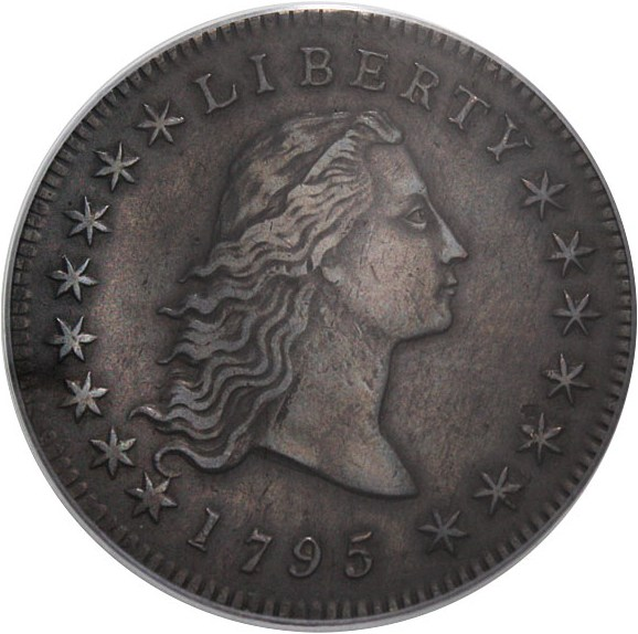 sample image for 1795 Flowing Hair $1  MS 2 Leaves