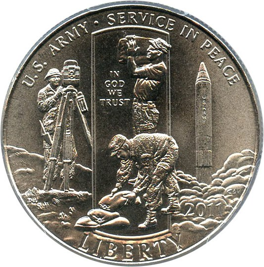 sample image for 2011-D United States Army 50c MS