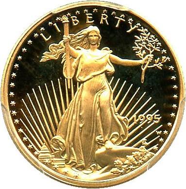 sample image for 1995-W Gold Eagle $5  PR DCAM