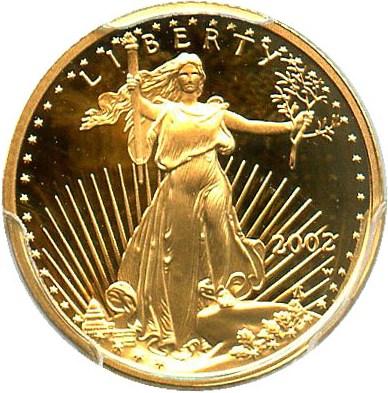 sample image for 2002-W Gold Eagle $5  PR DCAM