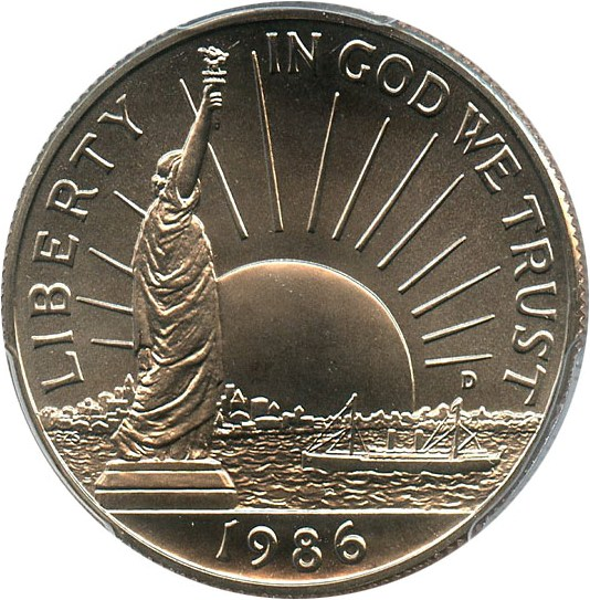 sample image for 1986-D Statue Liberty 50c MS