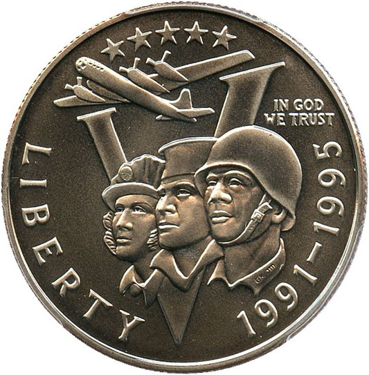 sample image for 1991-95-P World War II 50c MS
