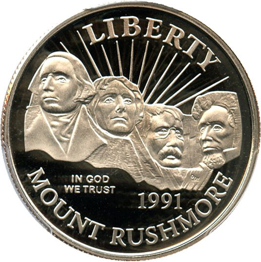 sample image for 1991-S Mt. Rushmore 50c PR DCAM
