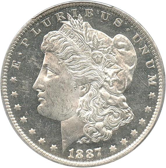 sample image for 1887-O $1  MS DMPL