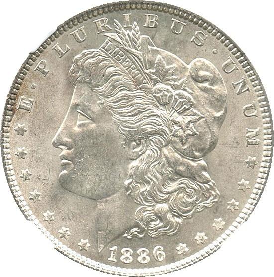 sample image for 1886 $1  MS VAM-1C, 3+2 Clashed Rev