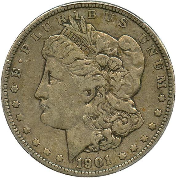 sample image for 1901 $1  MS VAM-5, Doubled Ear