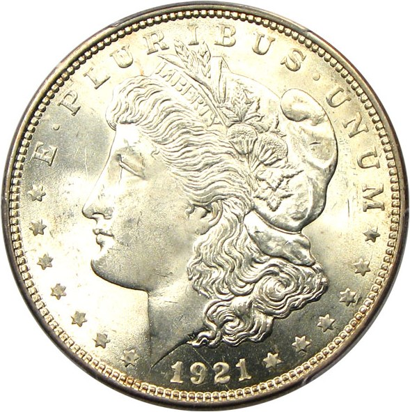 sample image for Morgan Dollar $1  MS Type 1921 [Type]