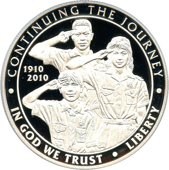 sample image for 2010-P Boy Scouts of America $1  PR DCAM