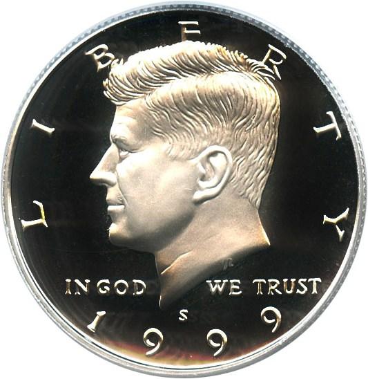 sample image for 1999-S 50c PR DCAM Silver