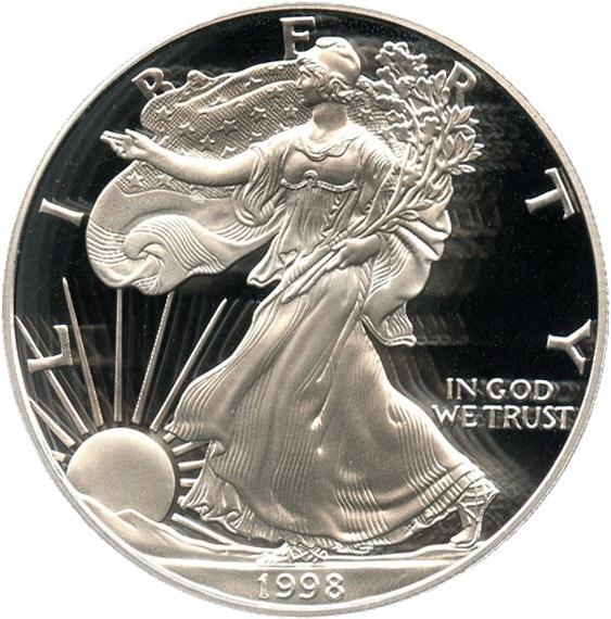 sample image for 1998-P Silver Eagle $1  PR DCAM