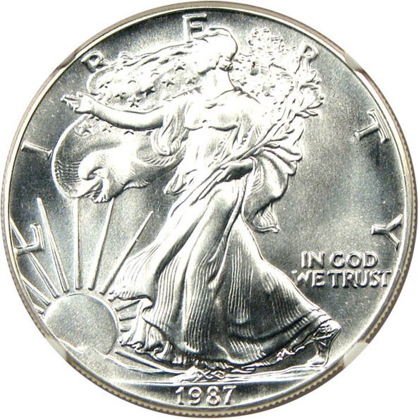 sample image for 1987 Silver Eagle $1  MS