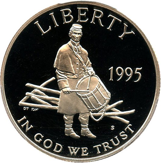 sample image for 1995-S Civil War 50c PR DCAM
