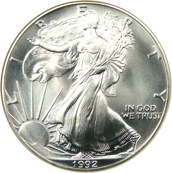 sample image for 1992 Silver Eagle $1  MS