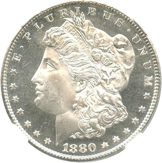 sample image for 1880-S $1  MS VAM-11, 0/9 Overdate