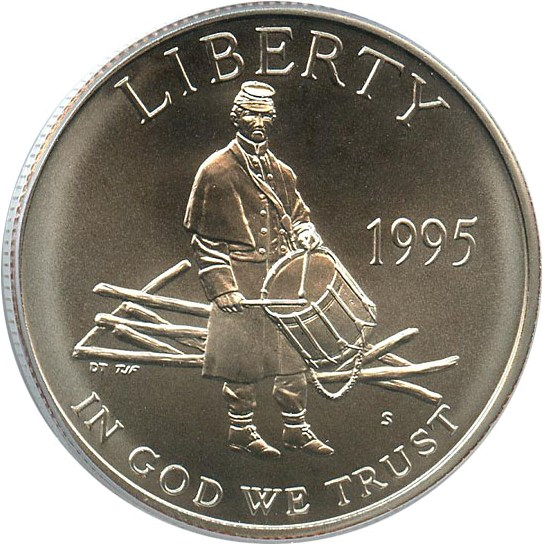 sample image for 1995-S Civil War 50c MS