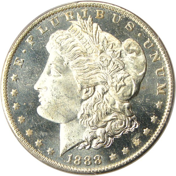 sample image for 1888-O $1  MS DMPL