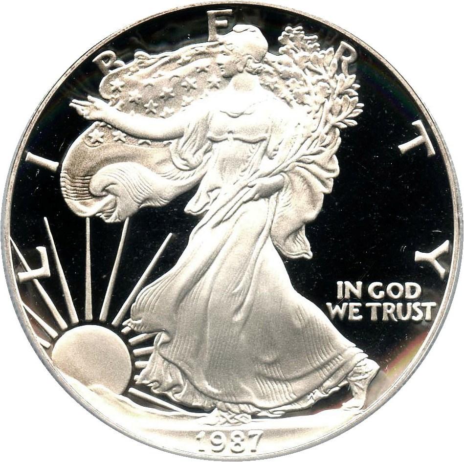 sample image for 1987-S Silver Eagle $1  PR DCAM