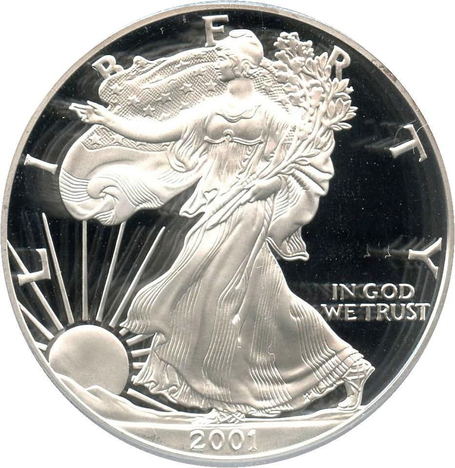 sample image for 2001-W Silver Eagle $1  PR DCAM