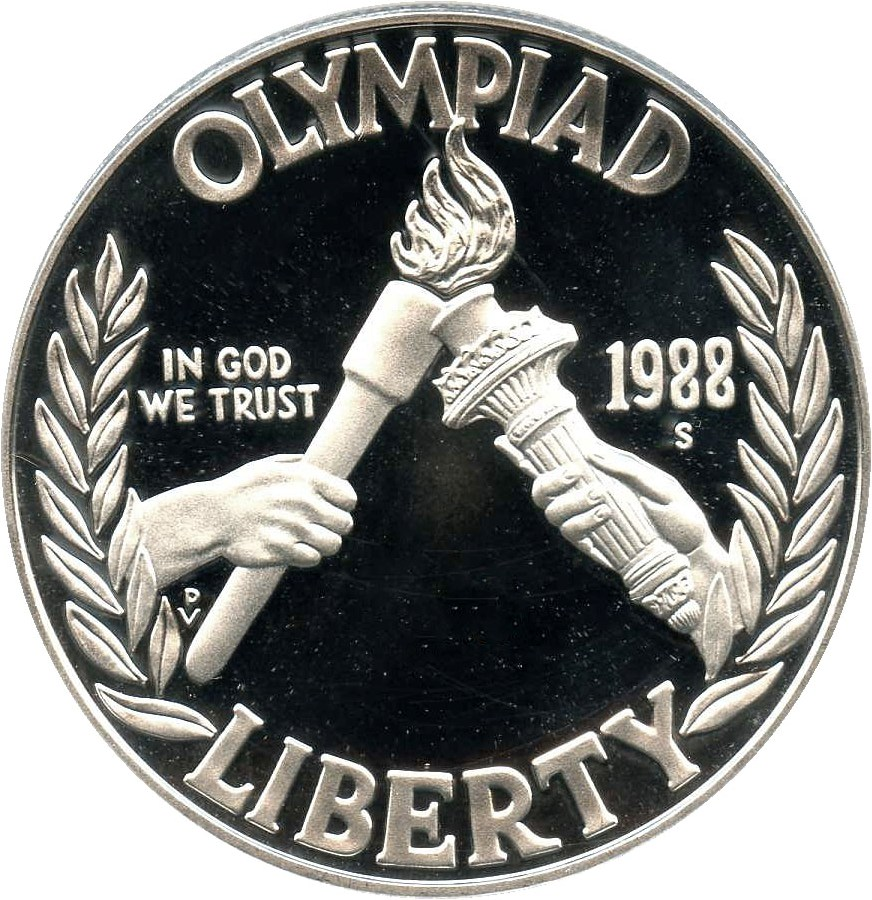 sample image for 1988-S Olympic $1  PR DCAM
