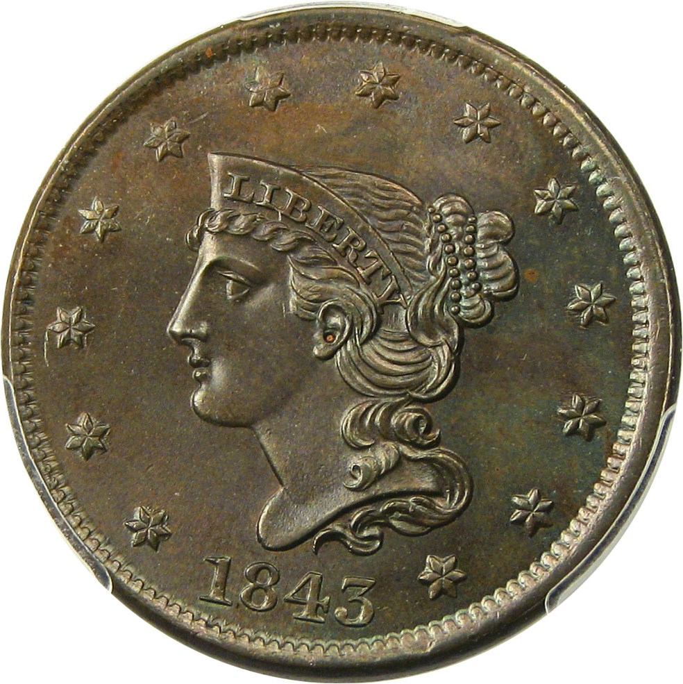 sample image for 1843 1c MS BN Petite Head, Large Letters