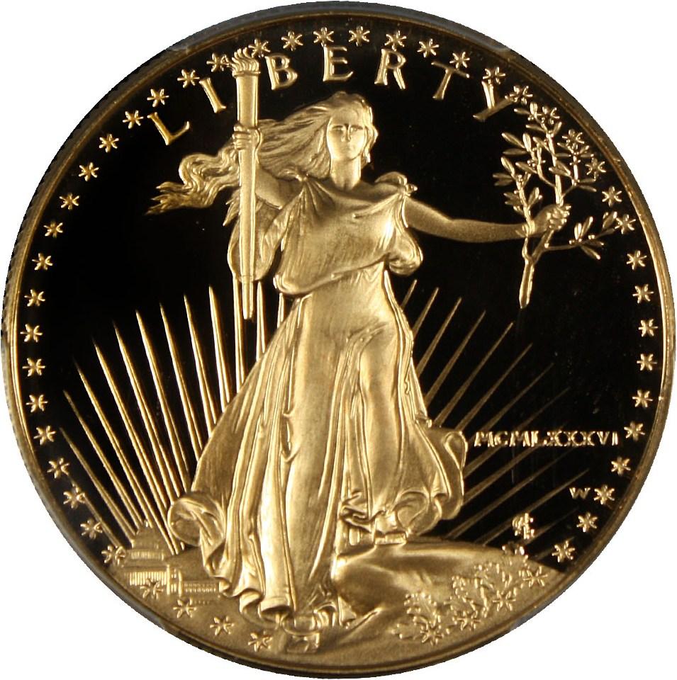 sample image for 1986-W Gold Eagle $50  PR DCAM