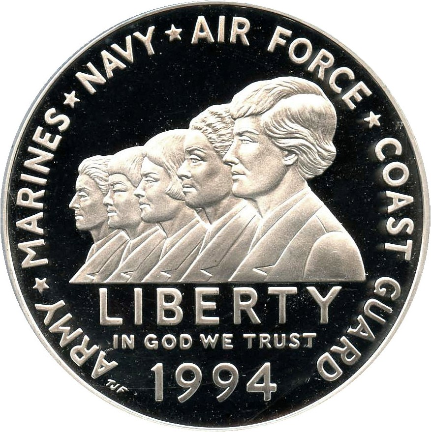 sample image for 1994-P Women in the Military $1  PR DCAM
