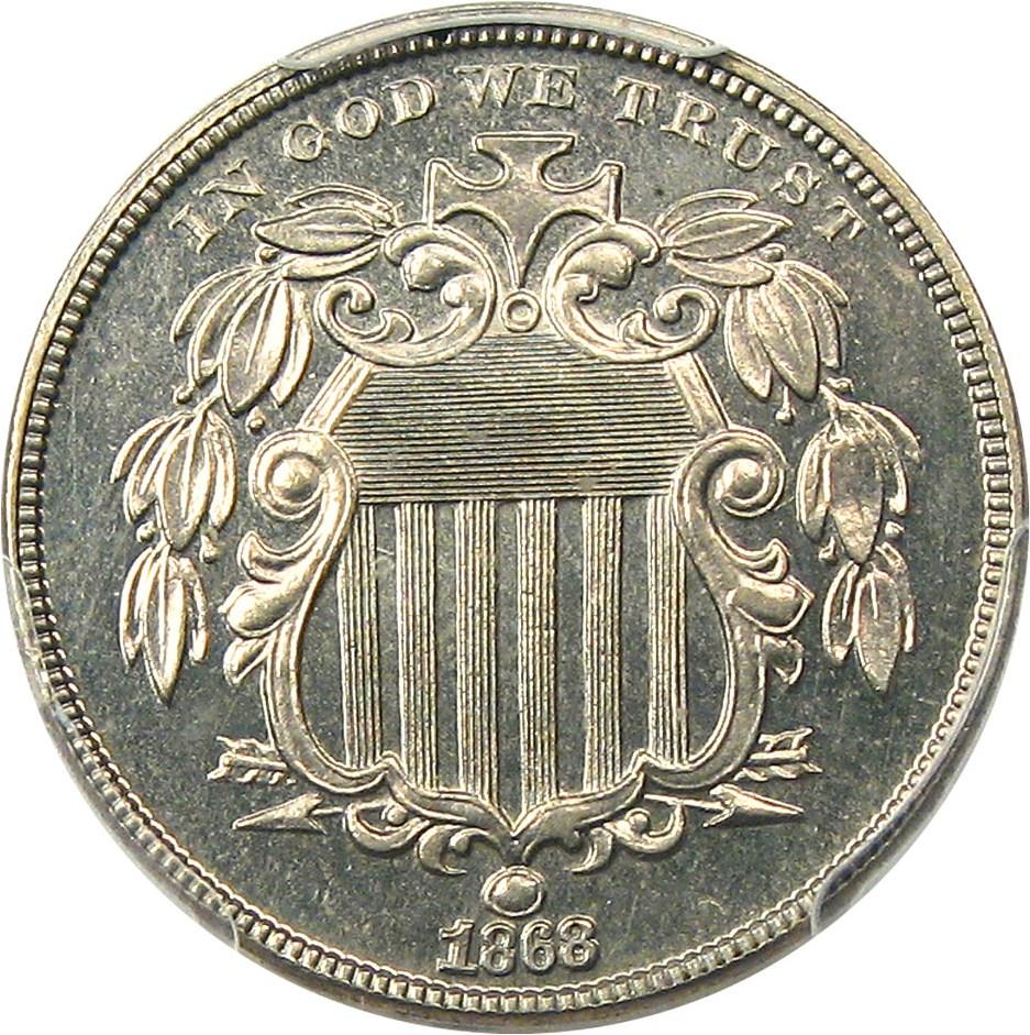 sample image for 1868 5c PR