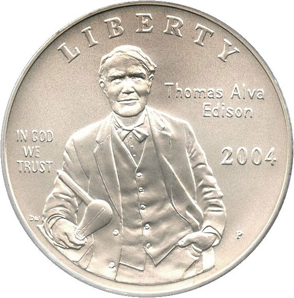 sample image for 2004-P Edison $1  MS
