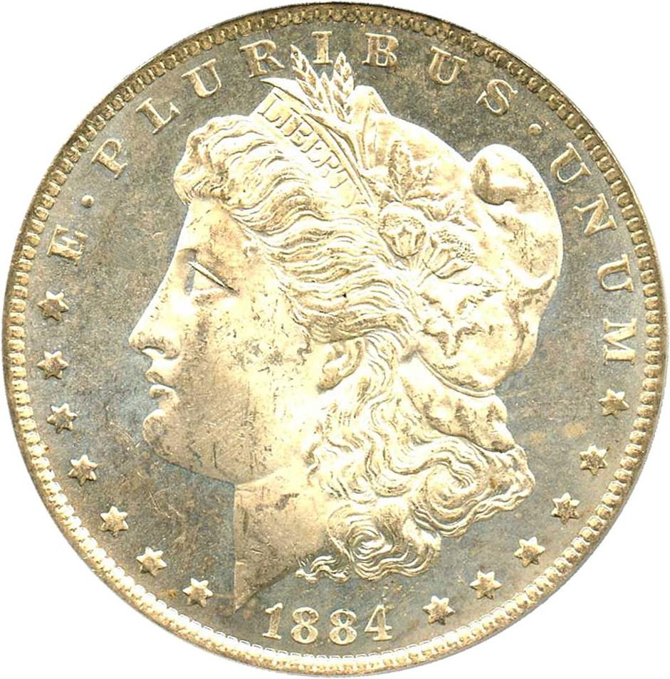 sample image for 1884-O $1  MS DMPL