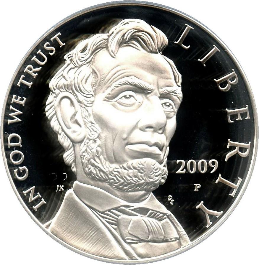 sample image for 2009-P Abraham Lincoln $1  PR DCAM