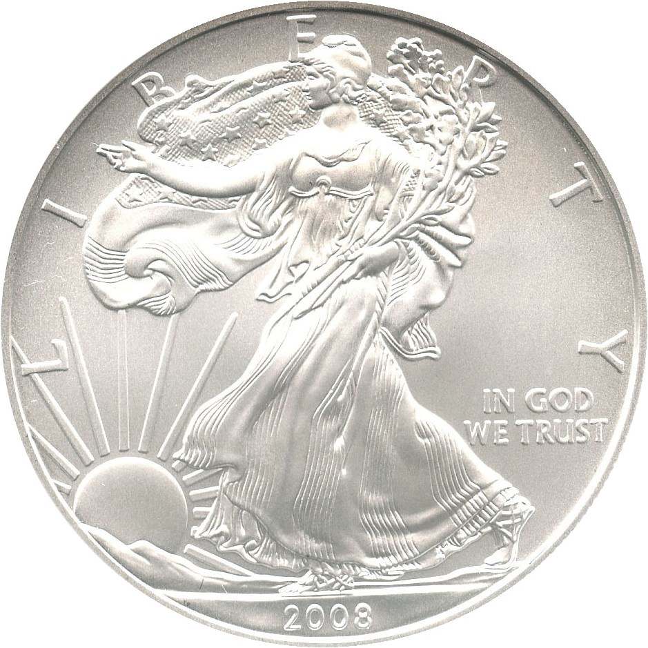 sample image for 2008-(W) Silver Eagle $1  MS Reverse of 2007