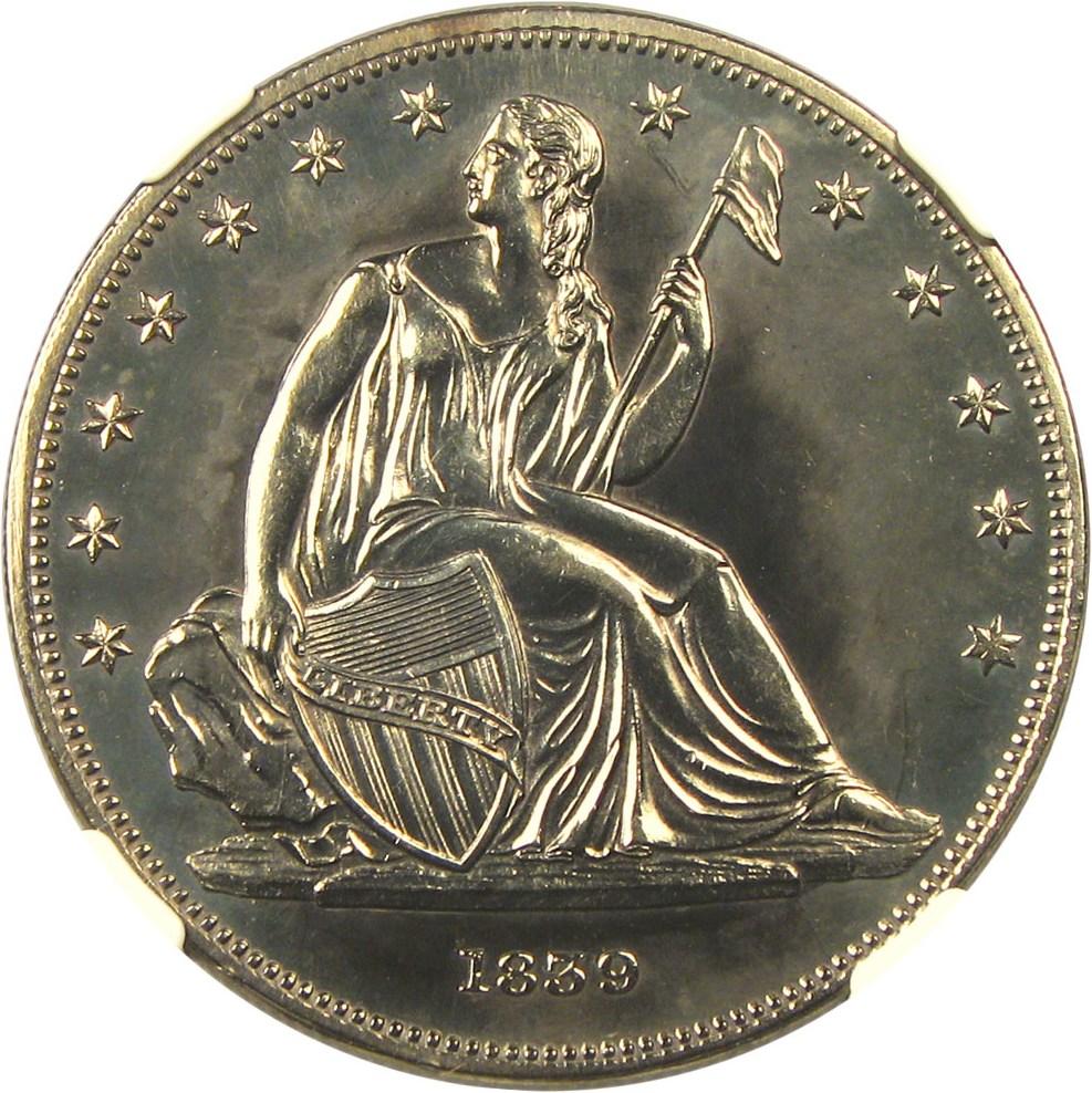 sample image for 1839 J-104, Restrike PS$1 PR