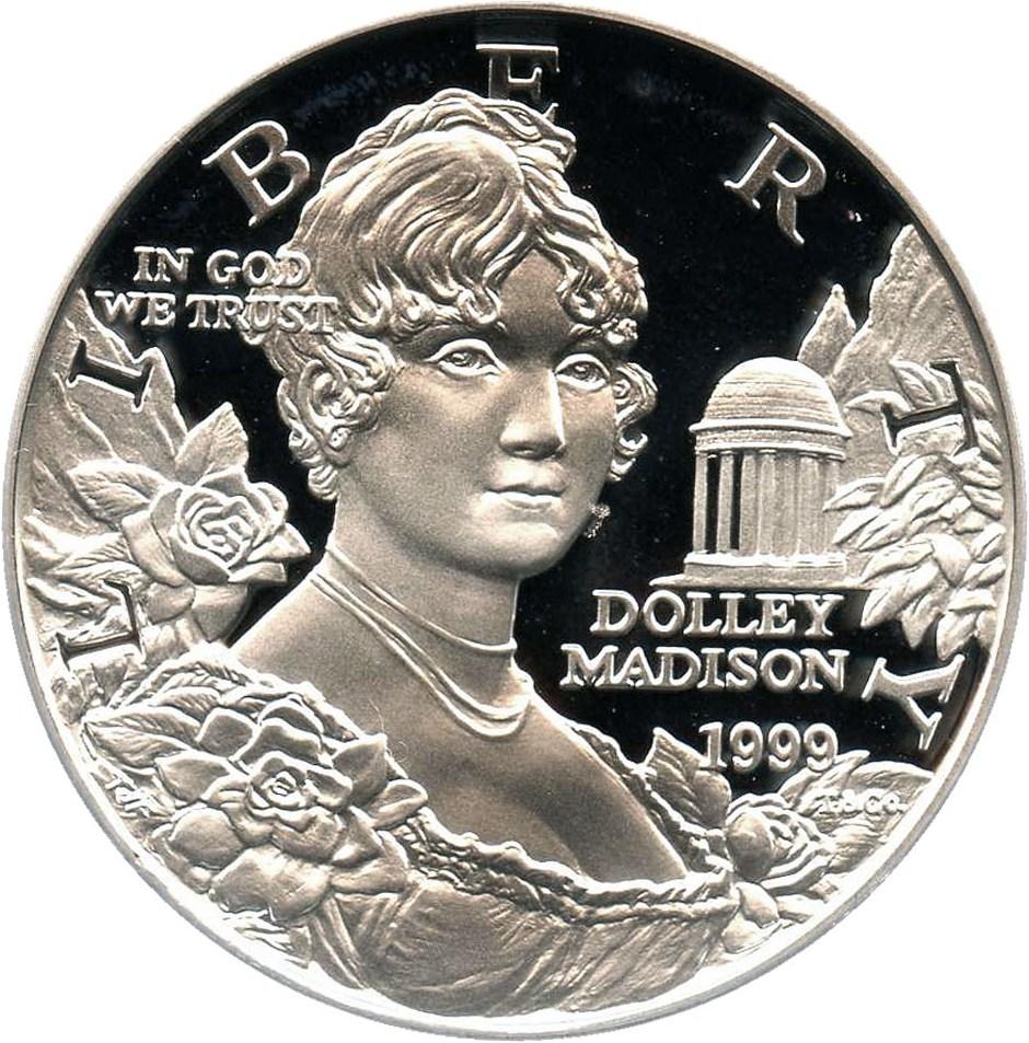 sample image for 1999-P Dolley Madison $1  PR DCAM