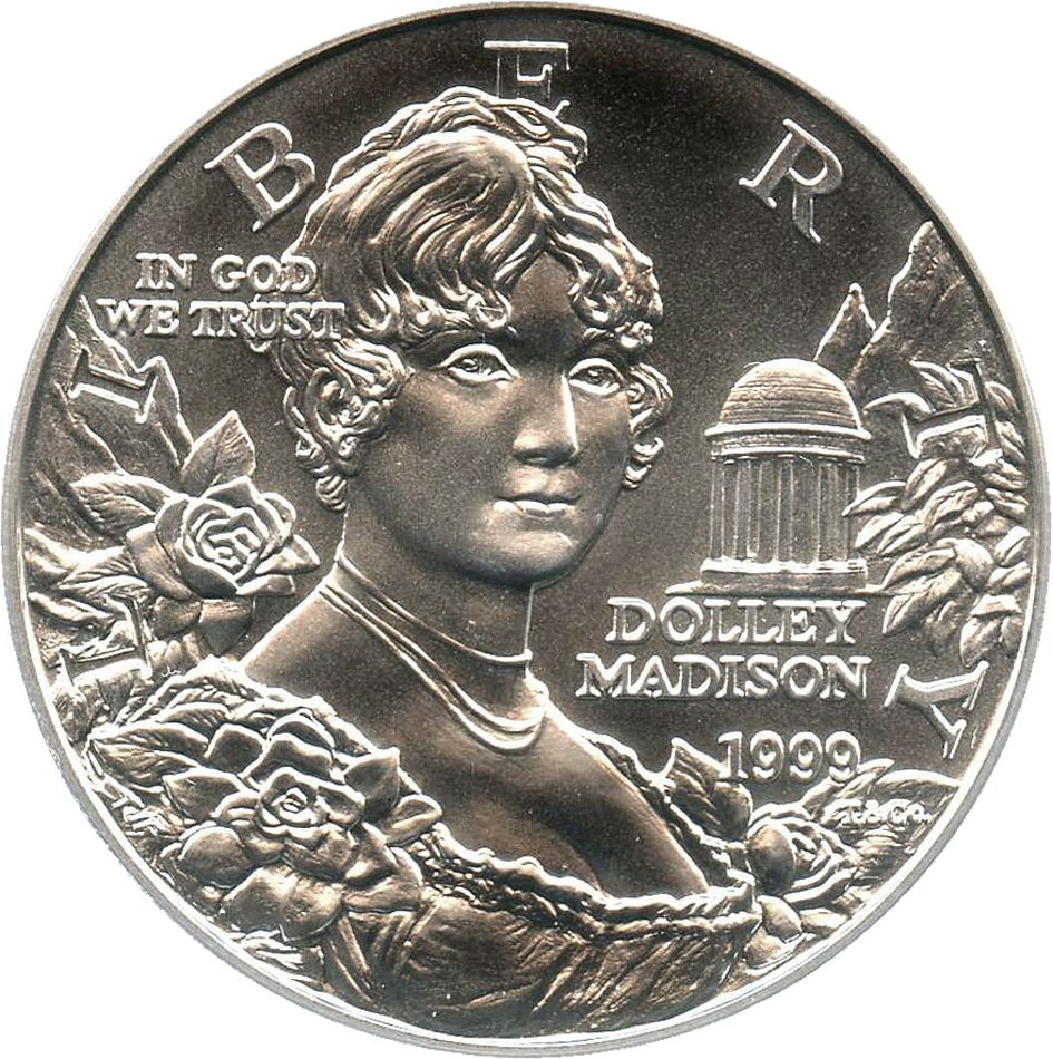 sample image for 1999-P Dolley Madison $1  MS