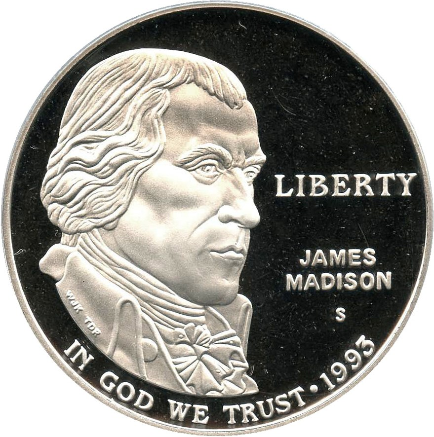 sample image for 1993-S Bill of Rights $1  PR DCAM