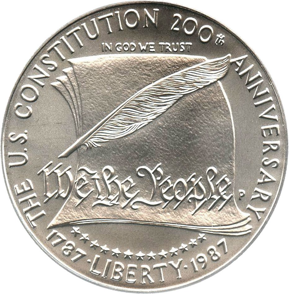 sample image for 1987-P Constitution $1  MS