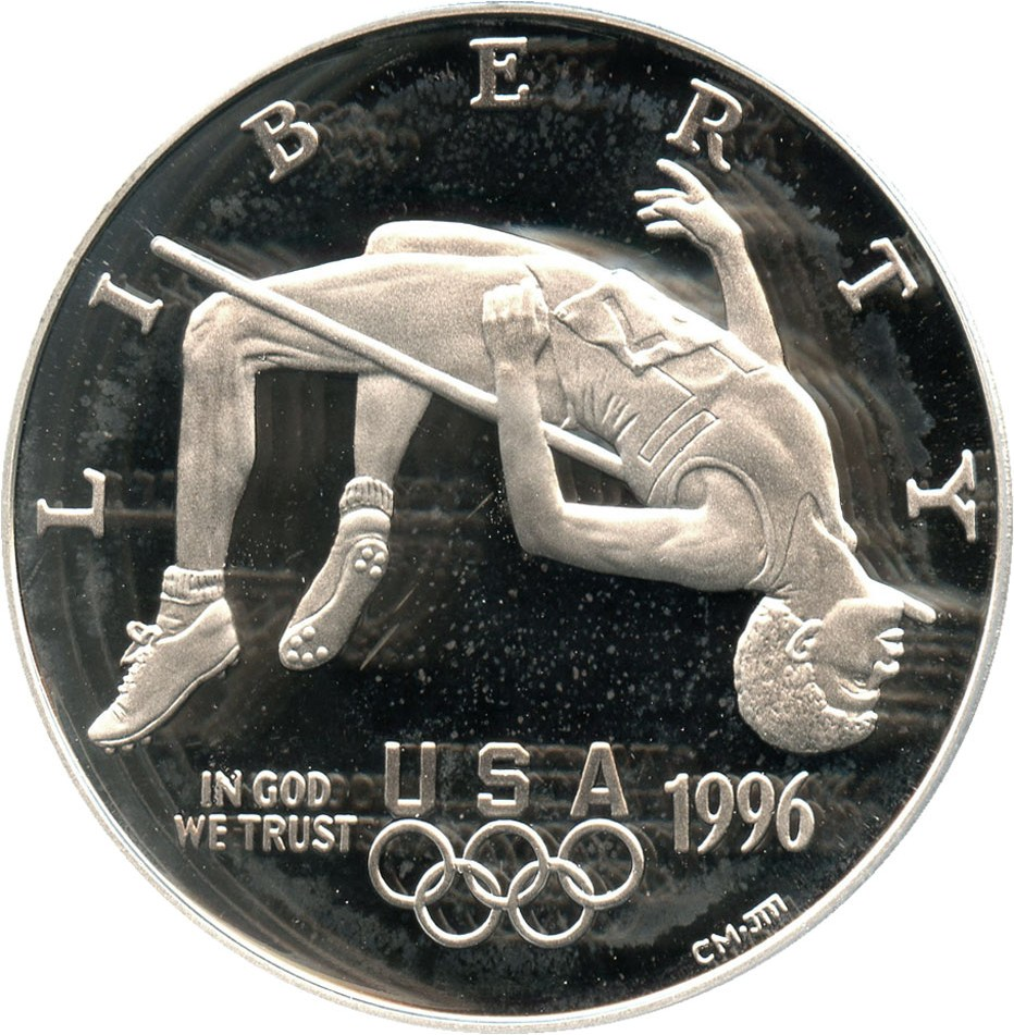 sample image for 1996-P Olympic High Jump $1  PR DCAM
