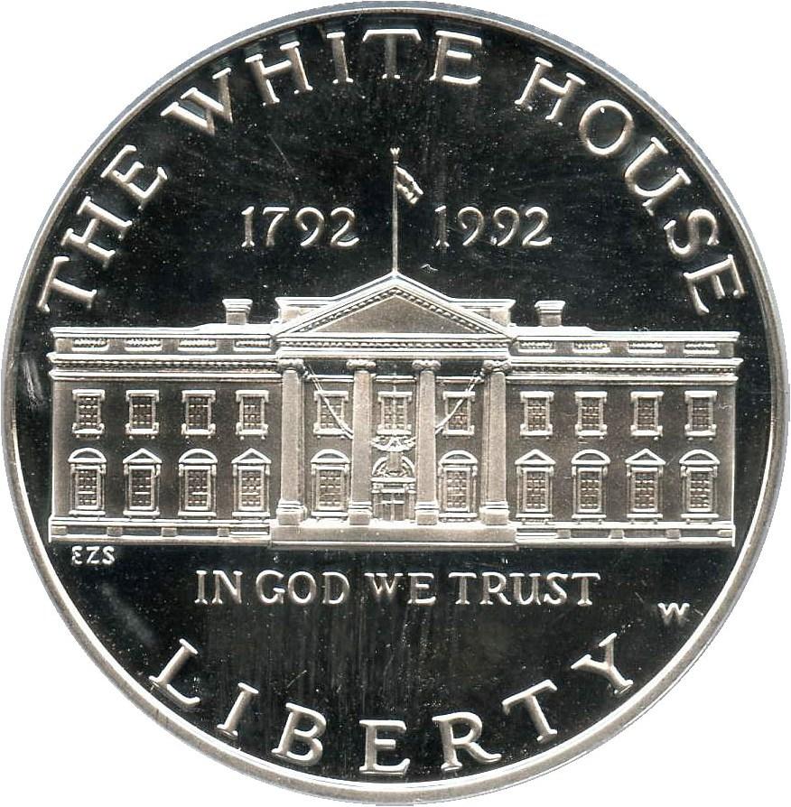 sample image for 1992-W White House $1  PR DCAM