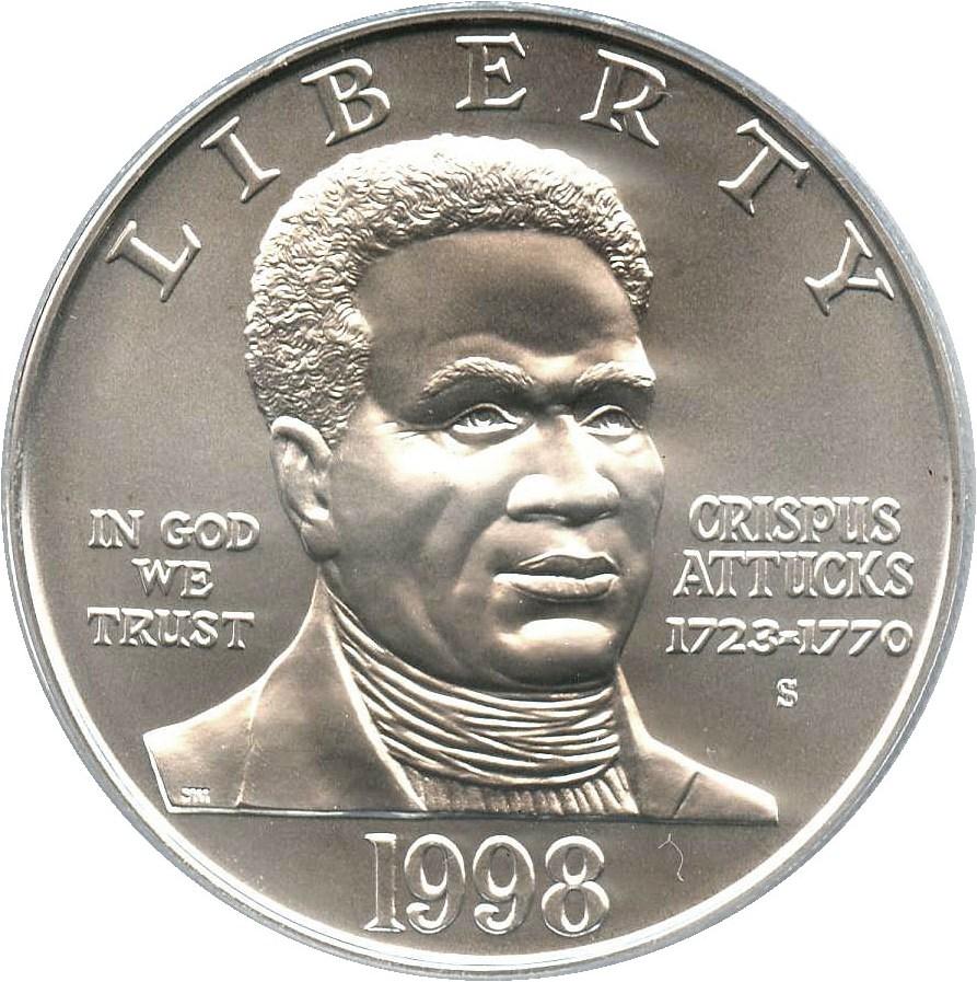 sample image for 1998-S Black Patriots $1  MS