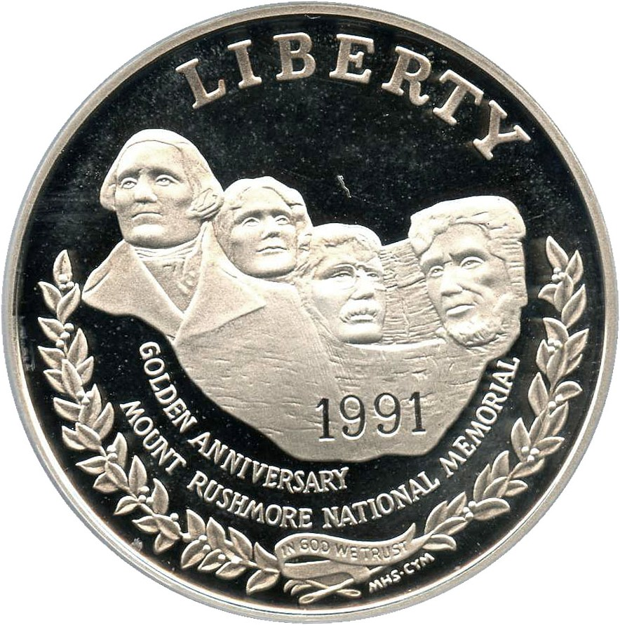 sample image for 1991-S Mt. Rushmore $1  PR DCAM