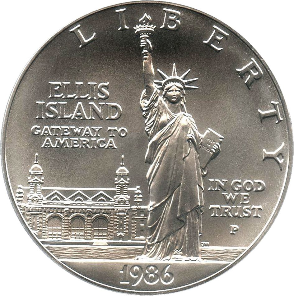 sample image for 1986-P Statue Liberty $1  MS