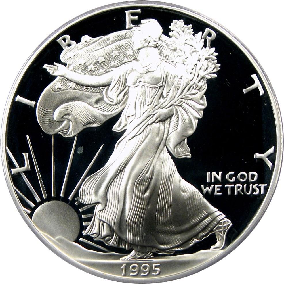 sample image for 1995-W Silver Eagle $1  PR DCAM