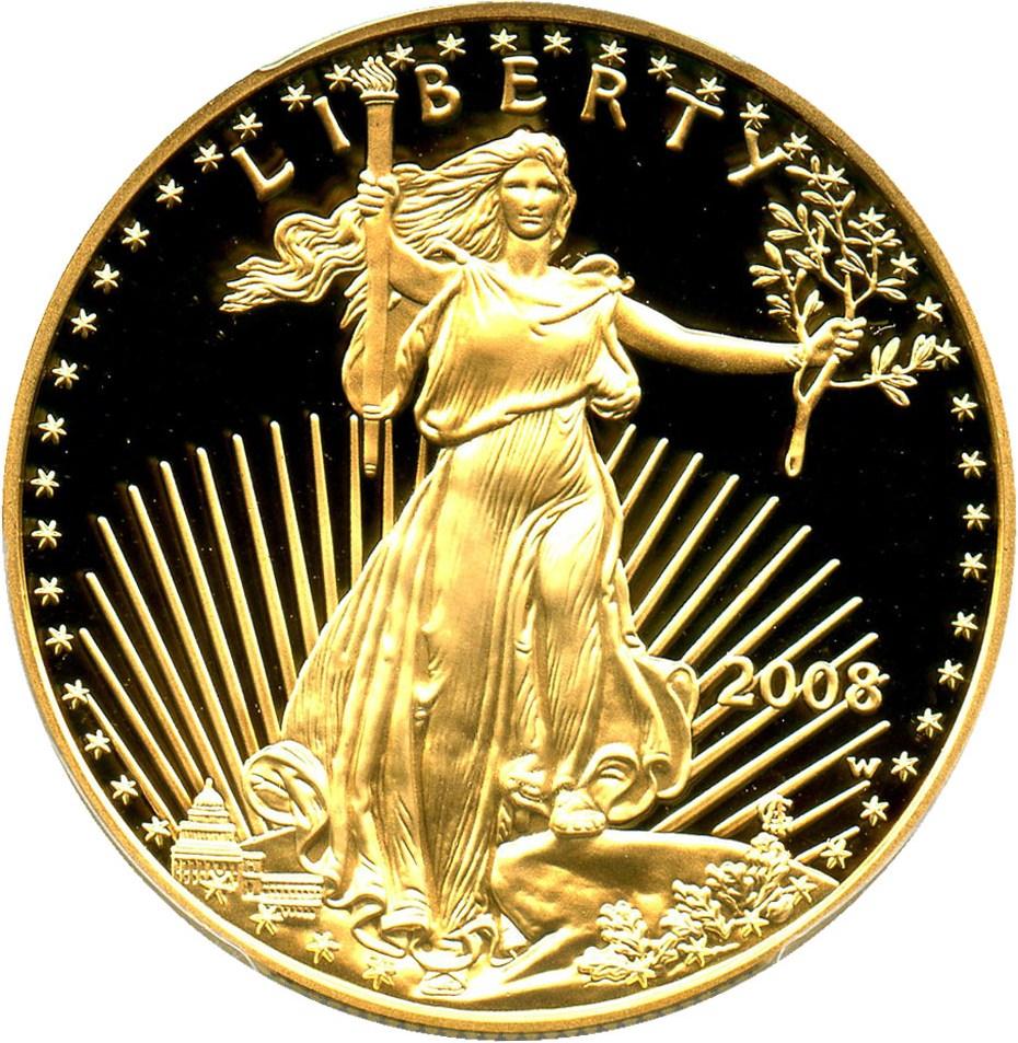 sample image for 2008-W Gold Eagle $50  PR DCAM
