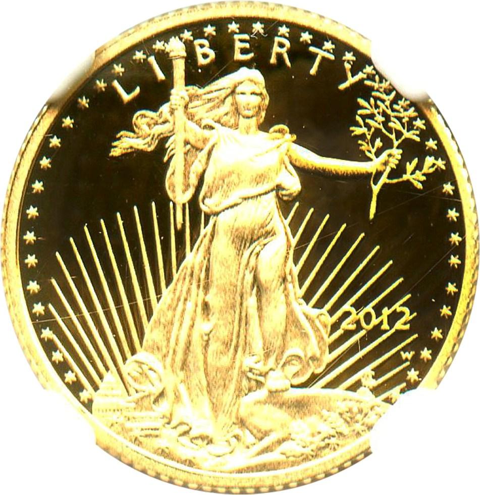 sample image for 2012-W Gold Eagle $5  PR DCAM