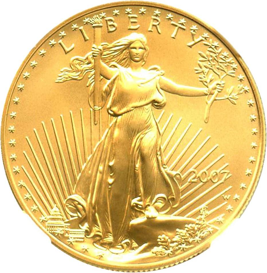 sample image for 2007-W Gold Eagle $50  SP Burnished